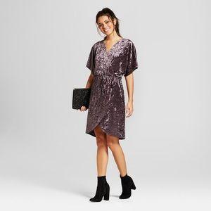Plus size Xhilaration crushed velvet wrap dress